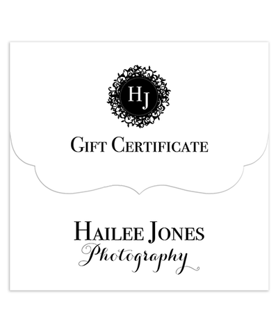Hailee Gift Certificate 5x5 Top Folded Luxe Card