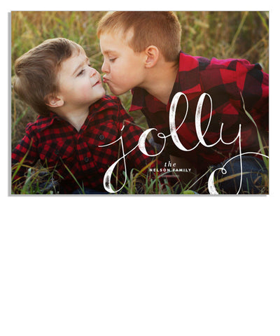 Jolly Scripted 7x5 Flat Card