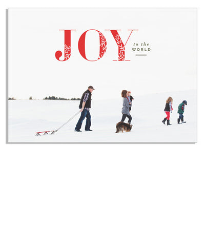 Joy Scripted 7x5 Flat Card