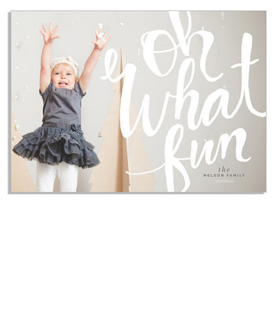 Oh What Fun Scripted 7x5 Flat Card
