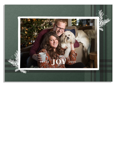 Sprigs and Plaid 7x5 Flat Card