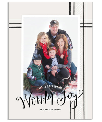Wonder Plaid 5x7 Flat Card
