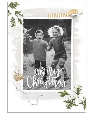 Wrapped in Christmas 5x7 Flat Card
