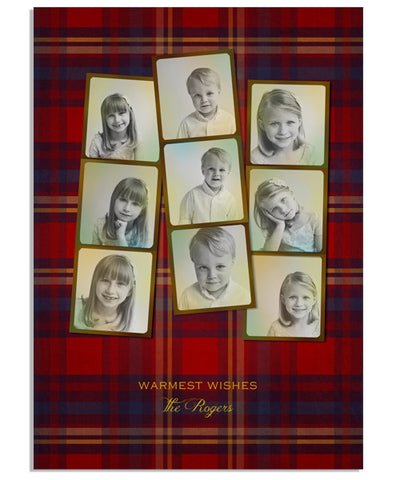 Warm Plaid 5x7 Flat Card
