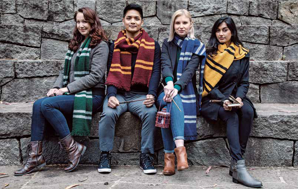 Hogwarts House Scarves by Tanis Gray