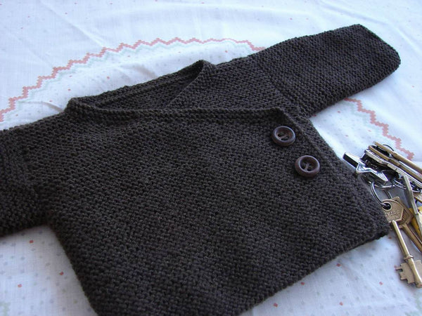 Garter Stitch Baby Cardigan by Joji Locatelli