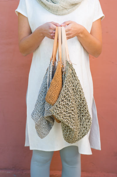 Knitted 4-corner Bags by Julie Weisenberger