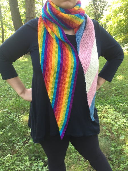 LGBTQ+Equality for Shawl von nycraft craftivist
