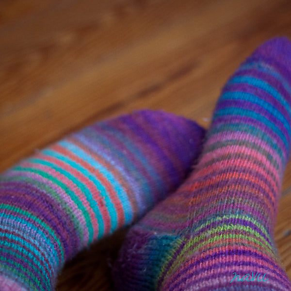 Magic Zauberball Stripe Socks by Tofutrulla