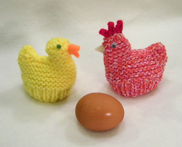 Chicken and Duck Egg Cozies (Easter) by Claudia Lowman