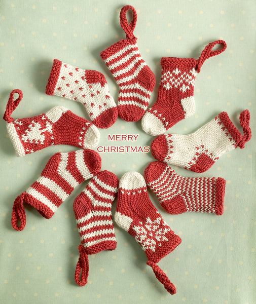 Mini Christmas Stocking Ornaments by Julie Williams