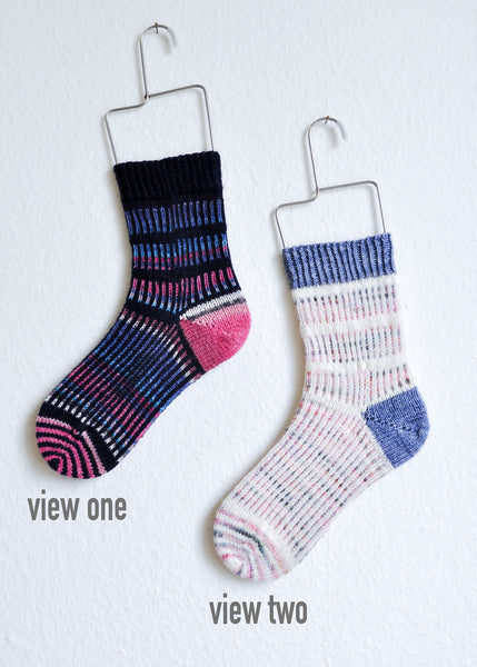 Mischief Maker Socks by Casey Maura Cartwright
