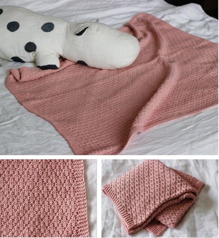 Strickpaket / Babydecke Clogue
