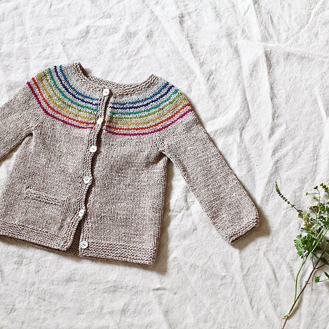 Little Miss Rainbow Jacke  - Strickpaket