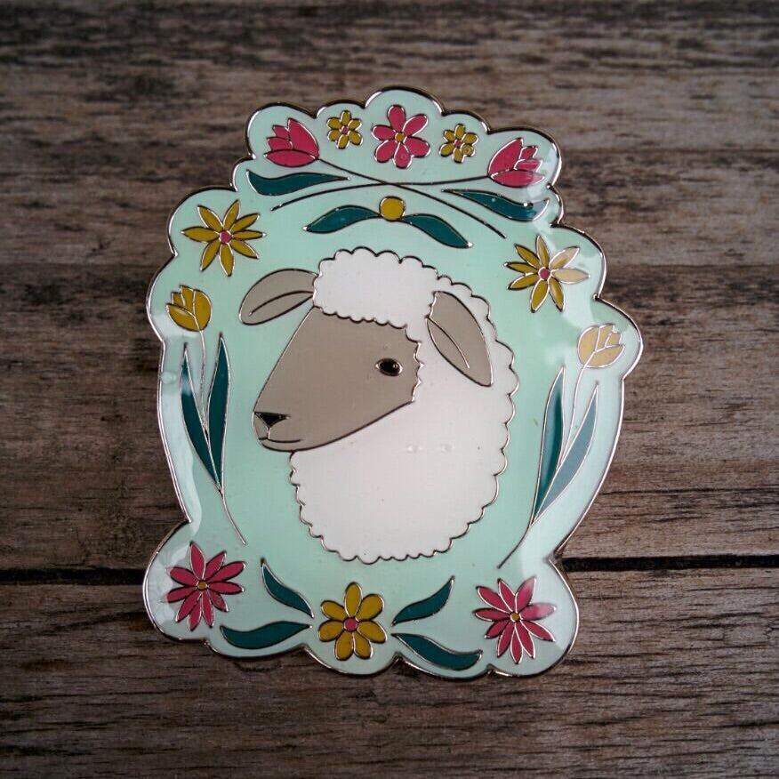 Pin - Bloomy Sheep