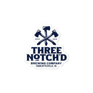 Three Notch'D Badge Stickers