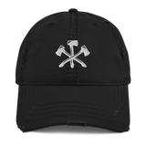 3NB Axes Distressed Dad Hat