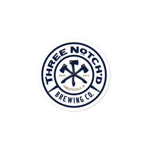 Three Notch'd Brewing Circle Sticker