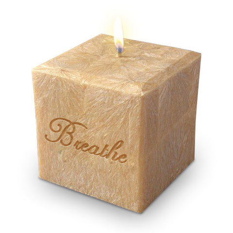 "3"" Cube Palm Candle"