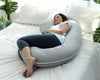 C-Shape Pregnancy Pillow - Grey