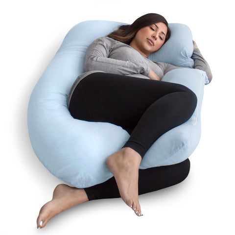 U-Shape Pregnancy Pillow - Light Blue