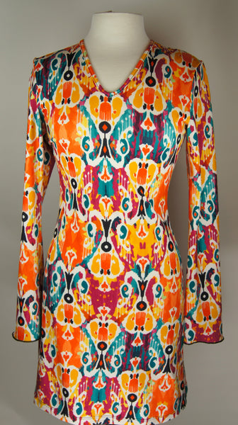 Bell Sleeve Dress/Tunic- Ethnic Orange