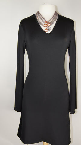 Bell Sleeve Dress/Tunic- BLACK