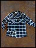 Oklahoma State Stillwater Front Pocket Plaid Flannel Button Up