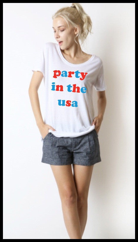 Party In The USA Scoop Neck Tee