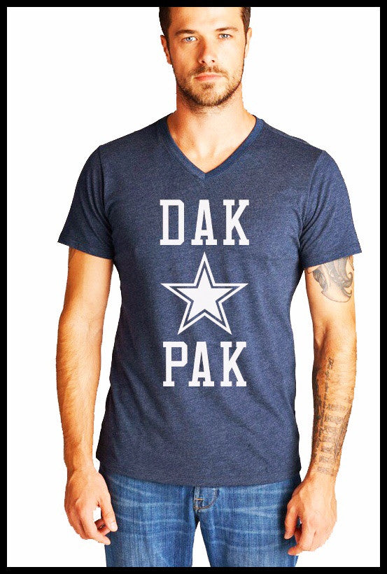Unisex Dak Pak Dallas Cowboys Navy & White Tri-Blend Tee