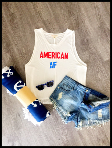 American AF Mid-Length Muscle Tank
