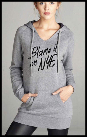 Blame It On NYE Hooded Sweatshirt