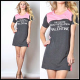 The Entire Dog Population Is My Valentine T-shirt Dress /Or Long Top