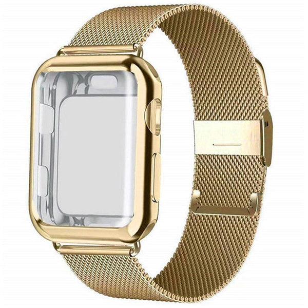 Milanese Stainless Steel Band With Case