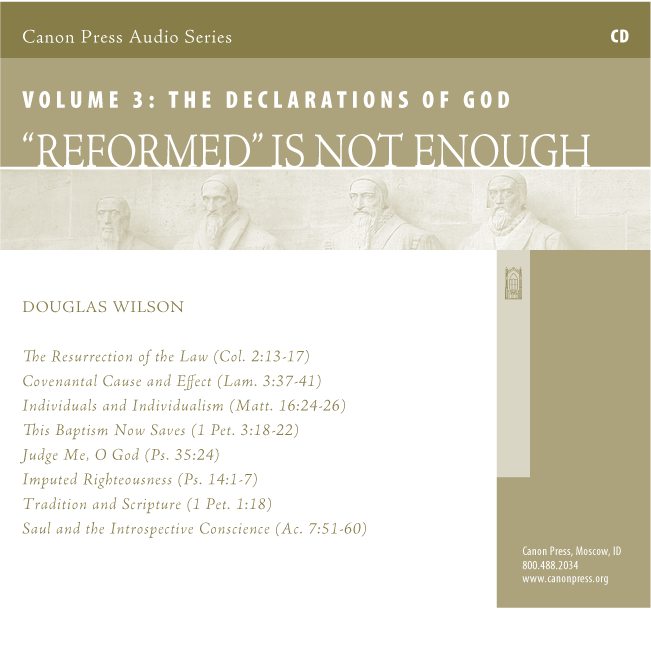 """Reformed"" is Not Enough: Vol. 3"