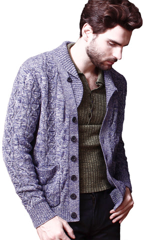 Marled Mixed Cable Cardigan