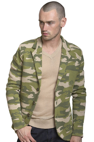 Camo Notch Collar Jacket