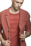 Sheer Matte Stripe Crewneck
