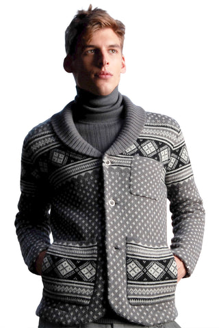 Fair Isle Shawl Collar Jacket