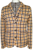Notch Collar Check Jacket