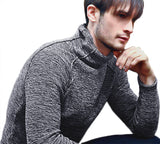 Marled Funnel Neck