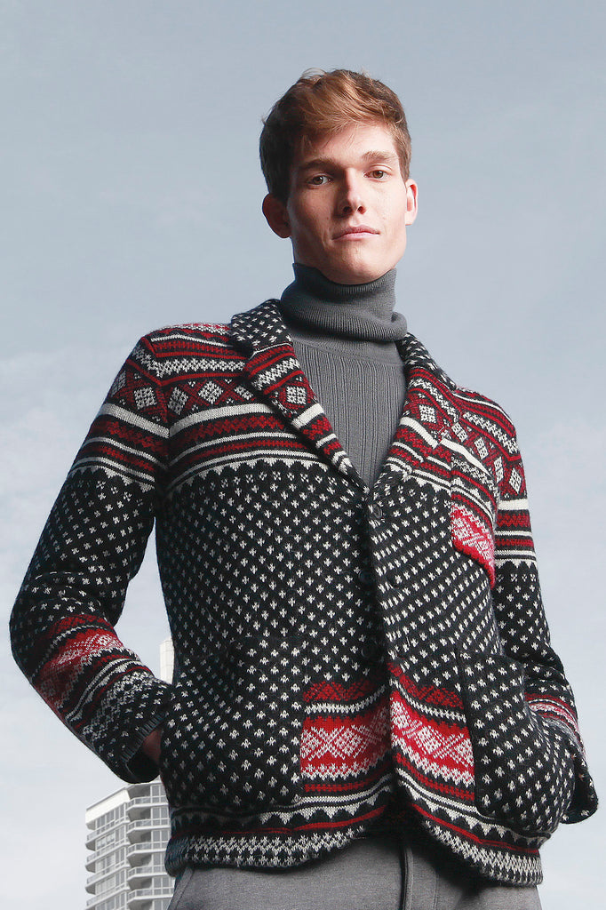 Fair Isle Notch Collar Jacket