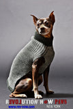 Mixed Media Paws Mock Neck Sweater