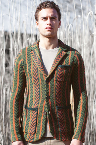 Shawl Collar Drop Stitch Cardigan