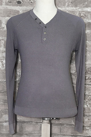 Thermal Long Raglan Sleeve V Neck Henley
