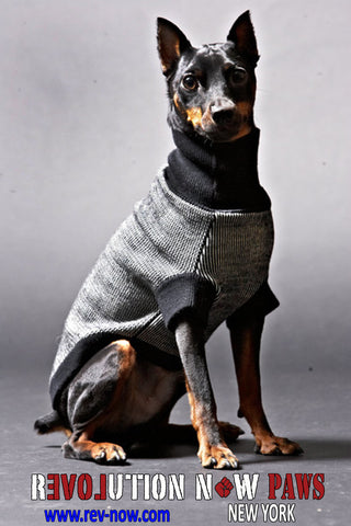 Houndstooth Paws Mock Neck Sweater
