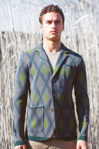 Diamond Jacquard Jacket