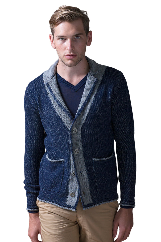 Plaited Notch Collar Cardigan