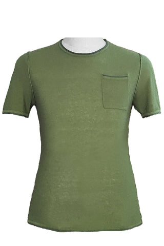 Roll Edge Short Sleeve Crew Neck