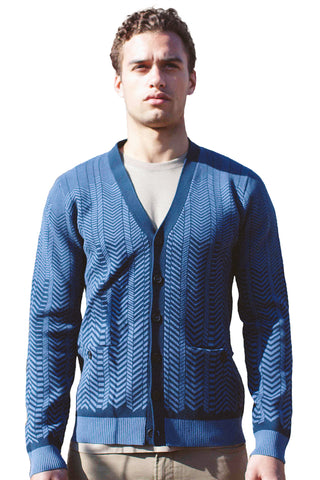 Mixed Scale Argyle Cardigan